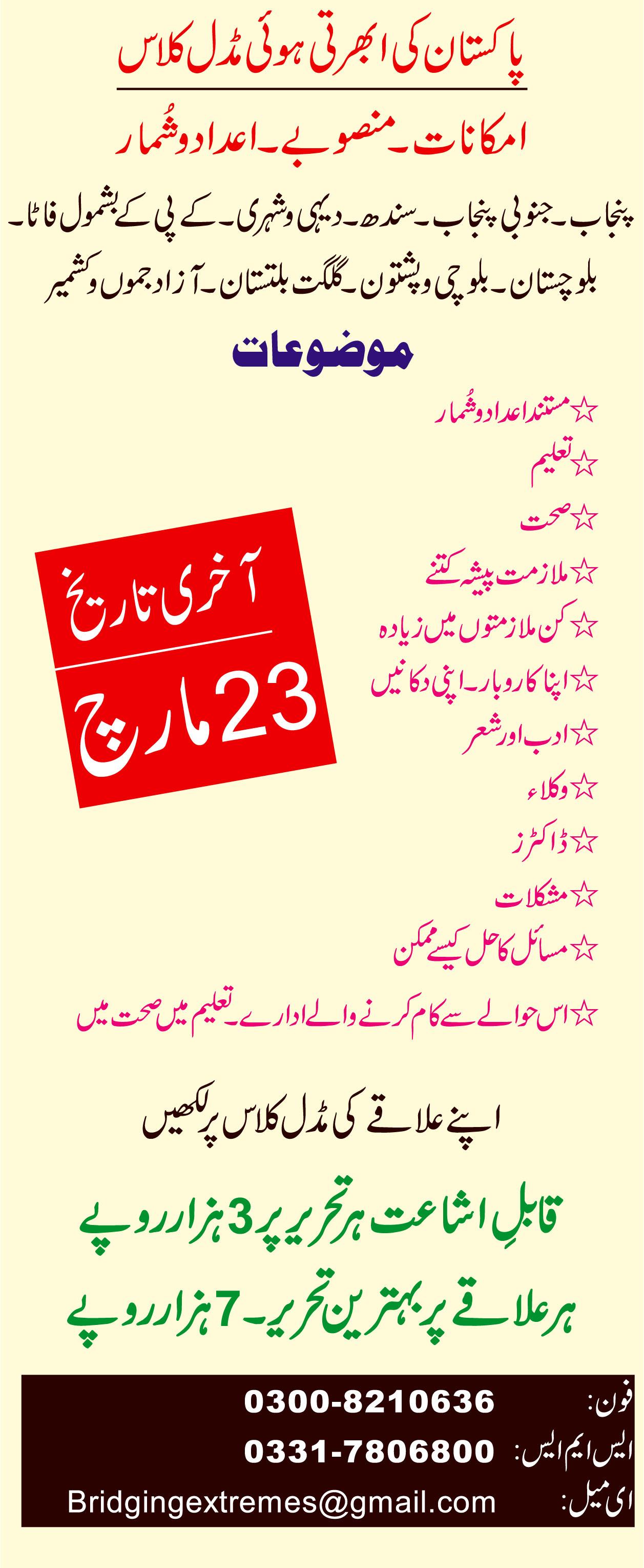pakistan ki Ubharti hui middle class